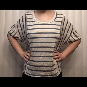 Striped loose fitting top